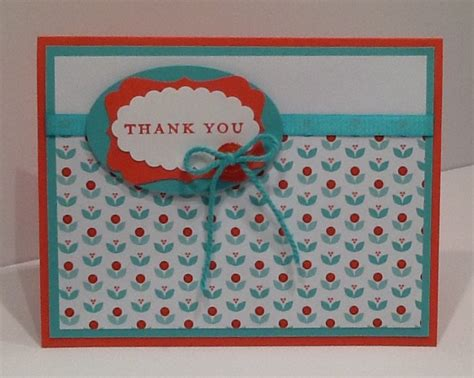 Thank You Handmade Cards - handmade thank you card simple thank you card by