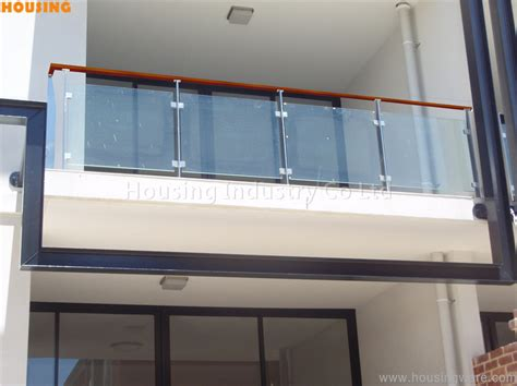 Tempered Glass Pagar stainless steel railing with tempered glass and pvc solid wood handrail buy tempered glass