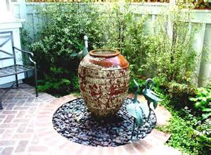 Patio Fountains Simple Garden Fountains With Stones For Front Yard Garden