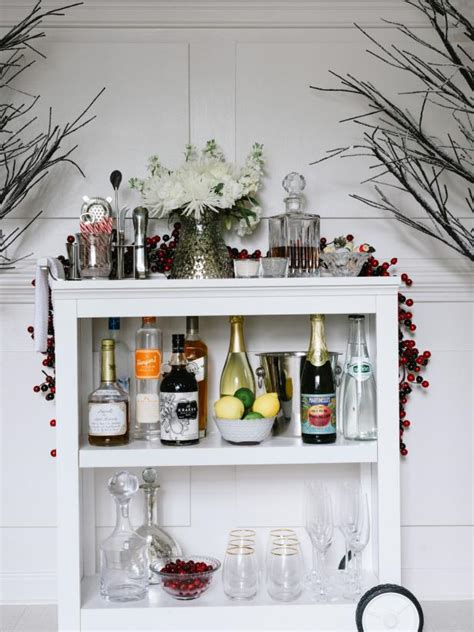 how to make a bar cart from a bookshelf hgtv