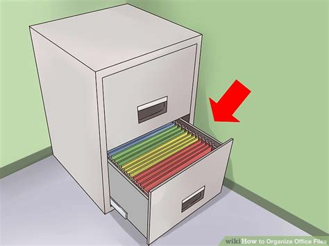 how to organize file cabinet 3 ways to organize office files wikihow