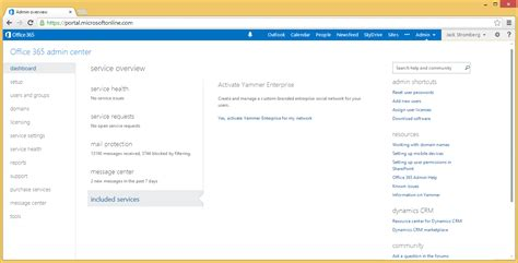 Office 365 Admin Login November 2013 Stromberg
