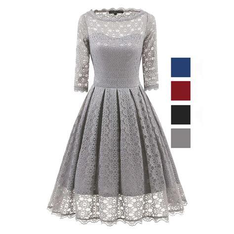 3 4 Sleeve Pleated Dress 3 4 sleeve vintage evening sheer pleated a