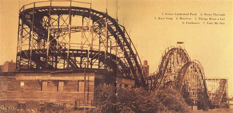 between days red house painters does anyone know the coaster on this album cover rollercoasters