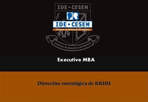 Ide Cesem Mba by Direcci 243 N Estrat 233 Gica De Rrhh
