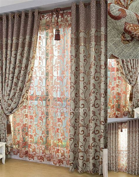 burlap curtains for sale classic gray burlap fabric window treatment with jacquard pattern