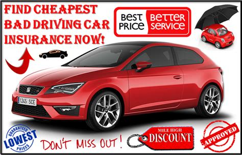Get Cheap Car Insurance for Bad Driving Record with No