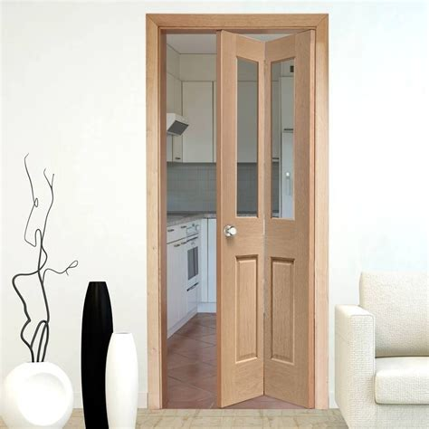 bifold interior closet doors interior bifold doors malton oak bi fold door clear glass