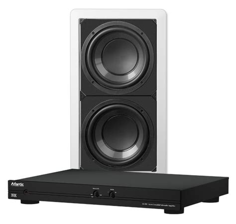 atlantic technology 8 quot powered 28 wall subwoofer dual 8 in wall subwoofer dual