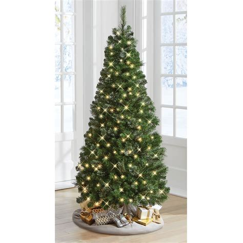 xmas trees frosted pull up the decoratable pull up tree hammacher schlemmer