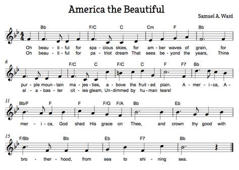 printable lyrics america the beautiful beth s music notes american folk songs america the
