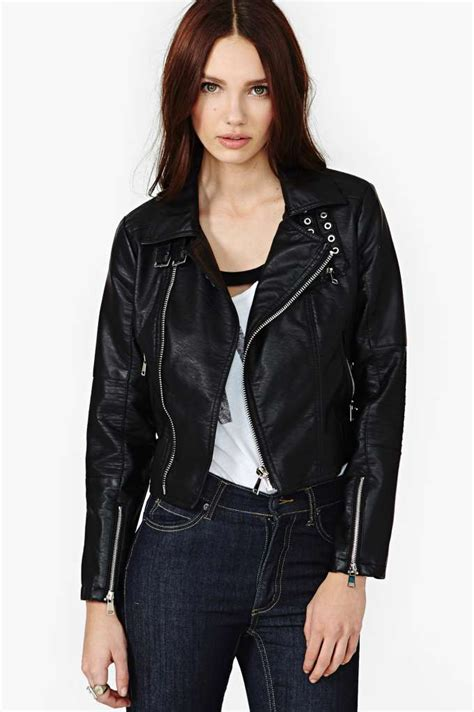 Hem Gucci Ld 102cm Free Belt gal motion faux leather moto jacket in what s new clothes jackets coats at gal
