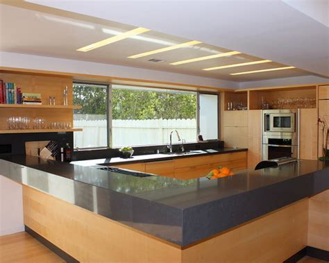 Glass Design For Kitchen Awesome Modern Kitchen Design With Hardwood Kitchen Cabinet Set Also Counter Island Added Grey