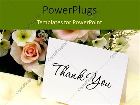Powerpoint Template Bouquet Of Flowers With A Thank You Card 29332 Powerpoint Thank You Card Template