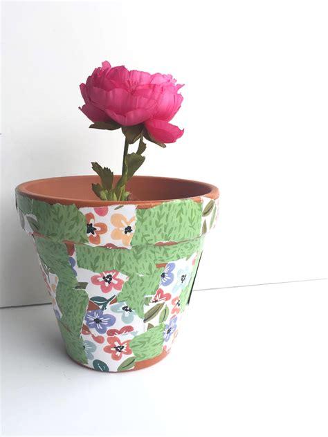 potted paper flower ideas diy flower pot w expandable paper pads me my big ideas