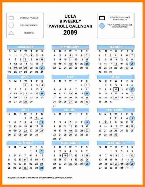 6 biweekly payroll calendar template simple salary slip