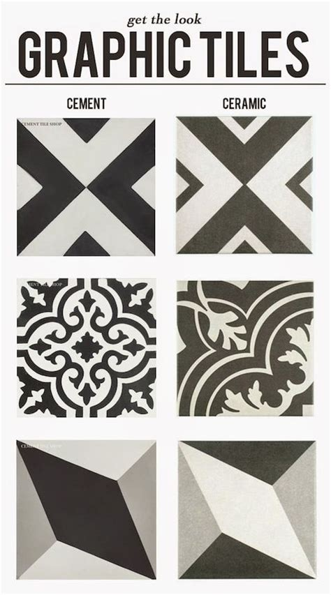 graphic ceramic tile 17 best images about cement tile ideas on pinterest tile