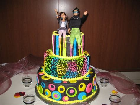 80 s themed wedding cake by dontdeconstruct on deviantart