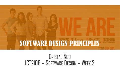 application design basics software design principles