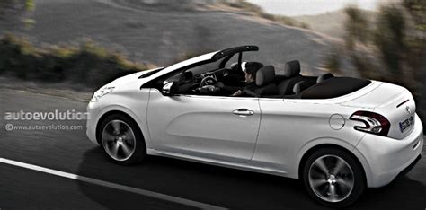 peugeot convertible peugeot 208 cabriolet coming in 2015 with fabric roof
