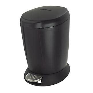 simplehuman bathroom pedal bin 6l black lakeland