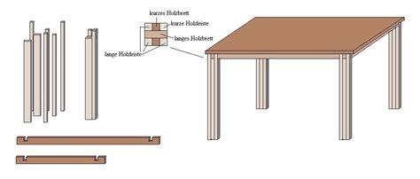 tisch holz selber bauen tisch selber bauen mit anleitung 187 www selber bauen de