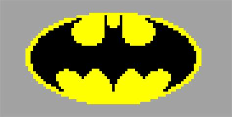 batman logo pixel art maker