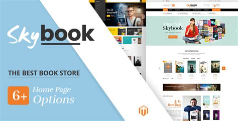 themes choices in learning and books skybook v1 0 book shop responsive magento theme