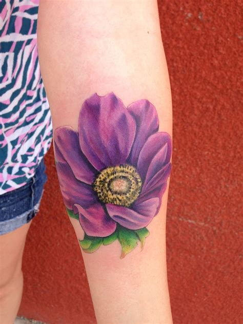 heather flower tattoo designs anemone flower inspiration