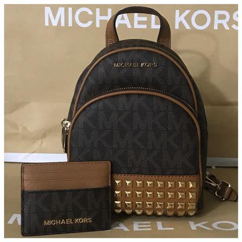 Tas Michael Kors Original Mk Backpack Xs Stud michael kors 2pc mk xs studded credit card holder backpack tradesy