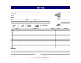 Blank Receipt Template by Blank Receipt Exle Masir
