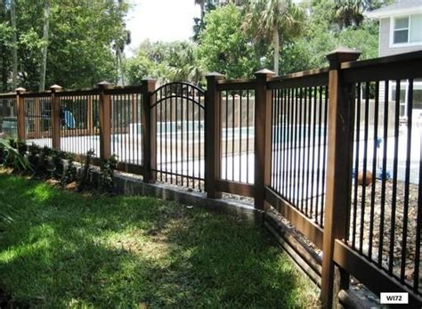 iron and wood fence wrought iron gates fences railing wrought bed wood and iron fencing