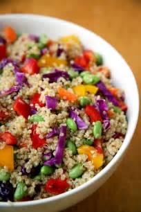 sesame ginger quinoa salad vegan popsugar fitness