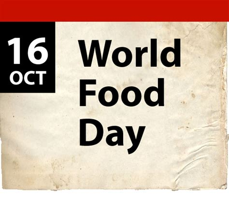 5 New Opening On October 16 by Global Calendar October 16 World Food Day