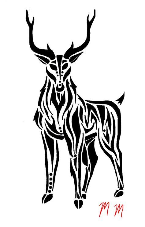 tribal deer tattoos the gallery for gt tribal deer design