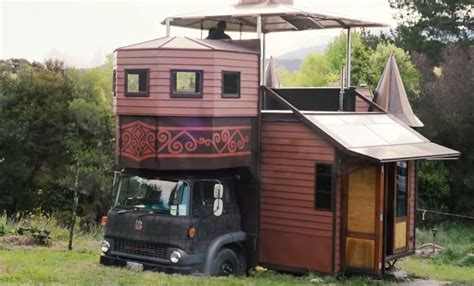 Tumbleweed Homes Interior The Amazing Tiny House Castle On A Truck