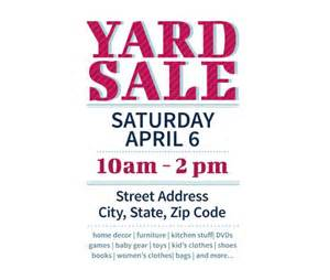 yard sale flyer template pin by holsten on