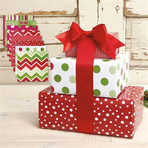 value christmas presents prints gift wrap value pack 8 flat sheets health personal care