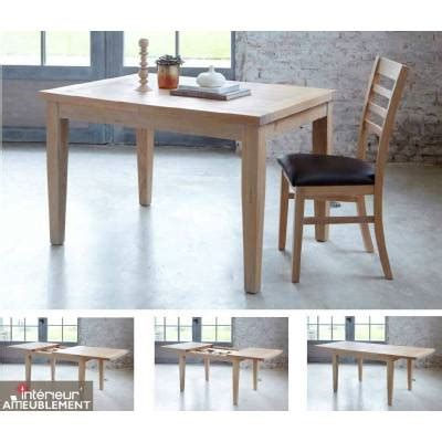 Table Salle A Manger Chene Massif 1609 by Table Rectangulaire 125 2 Allonges Maeva