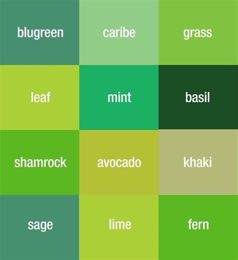 types of green color 17 best ideas about green color names on soft