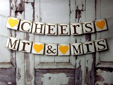 Wedding Table Banner by Wedding Decorations Wedding Banners Cheers Mr Mrs