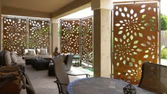 Rusted steel privacy screen contemporary patio phoenix by