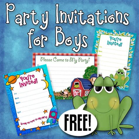 birthday invitation templates for boys 170 best images about free printable birthday