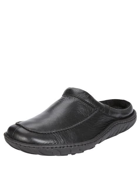 clarks slippers mens clarks clarks kite vasa mens mule slippers in black for