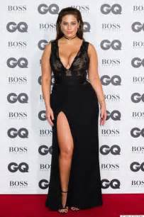 Best assets with the dress low plunging neckline and thigh high slit