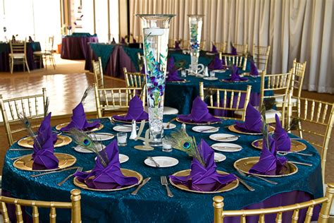 peacock themed wedding decorations peacock theme las vegas golf course wedding to remember
