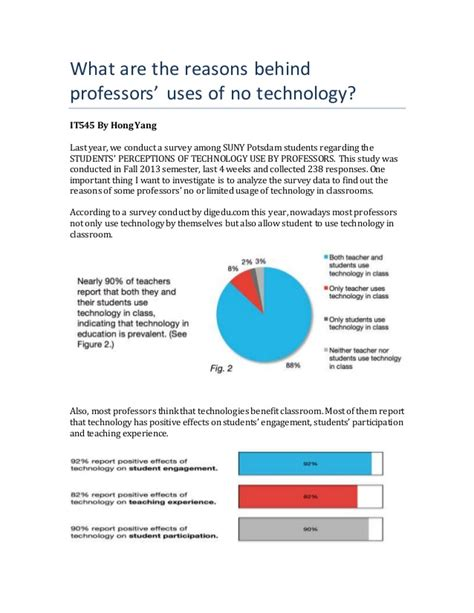 technology in the classroom research paper technology research essay professor choose not to use