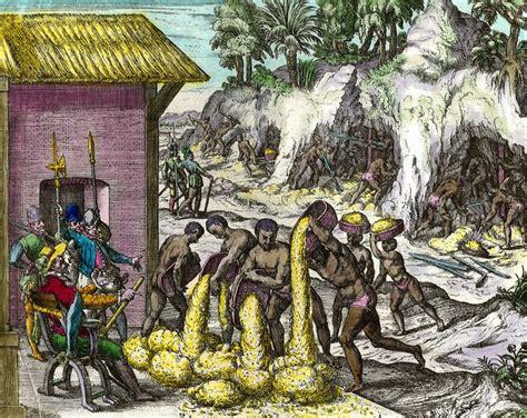 ba art goya espagnol 3836543176 doc 1 les espagnols exploitent les mines d or les indiens travaillent sous les yeux des