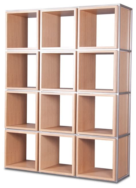 grid i light oak shelving unit modern display and wall shelves