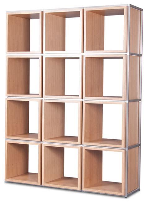 grid i light oak shelving unit modern display and wall shelves
